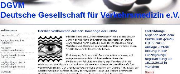 Fachdisziplinen für verkehrmedizinisch interessierte Ärzte mit DGVM - Deutsche Gesellschaft für Verkehrsmedizin