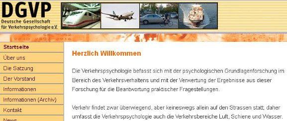 Straßenverkehr Grundlagenforschung im Bereich des Verkehrsverhaltens mit DGVP - Deutsche Gesellschaft für Verkehrspsychologie