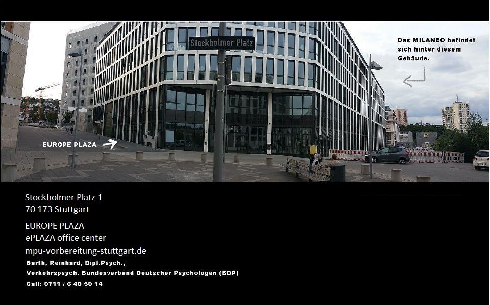 Europe Plaza Gebäude - Stuttgart Stockholmer Platz - MPU Vorbereitung