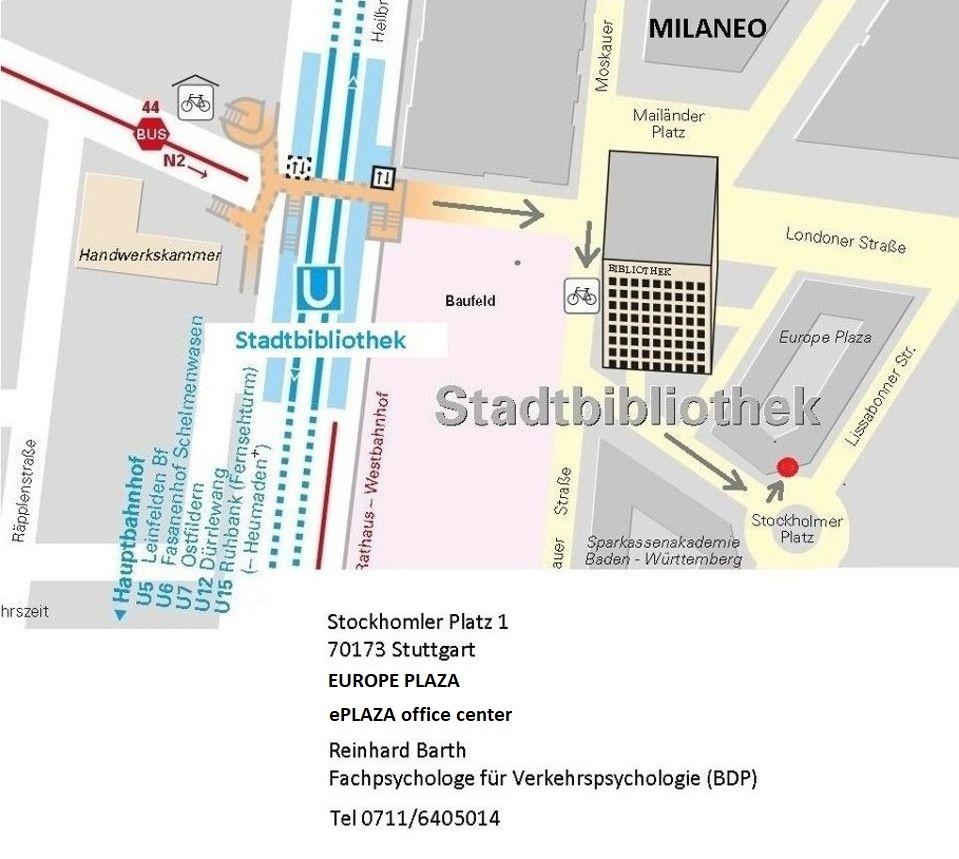 Stuttgart Milaneo - Von Stadtbibliothek zu Stockholmer Platz 1, Europe Plaza