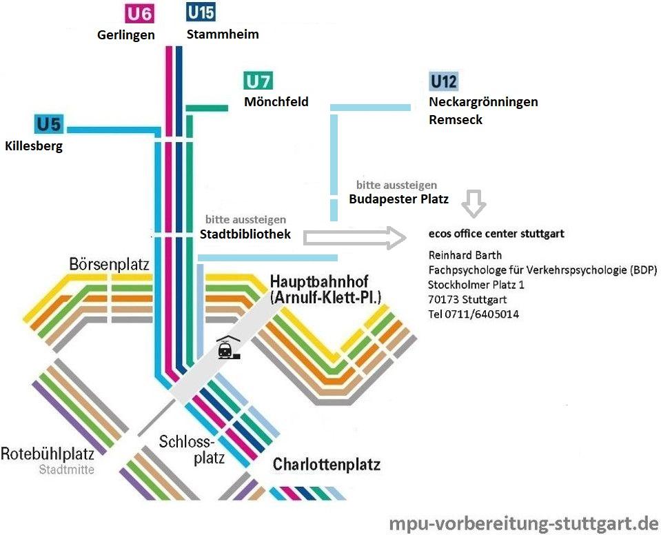 Fachpsychologe für Verkehrspsychologie BDP, MPU - Stockholmer Platz 1
