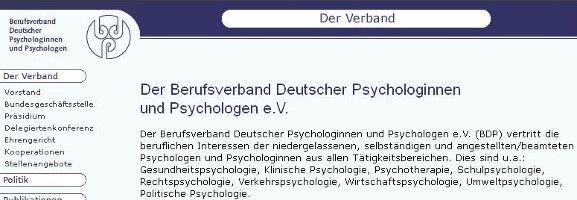 BDP Mitglied - Bundesverband Deutscher Psychologen - MPU Vorbereitung Stuttgart